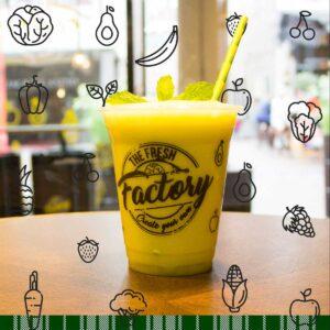 Juice: Sinaasappel - Komkommer - Munt